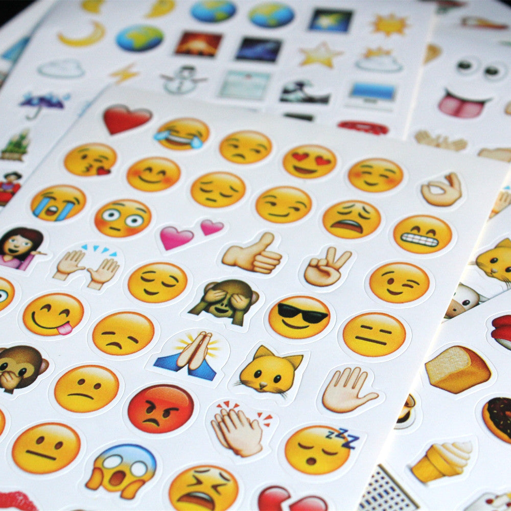 10pcs mixed different Classic  emoji stickers  (48 Die Cut ) sticker