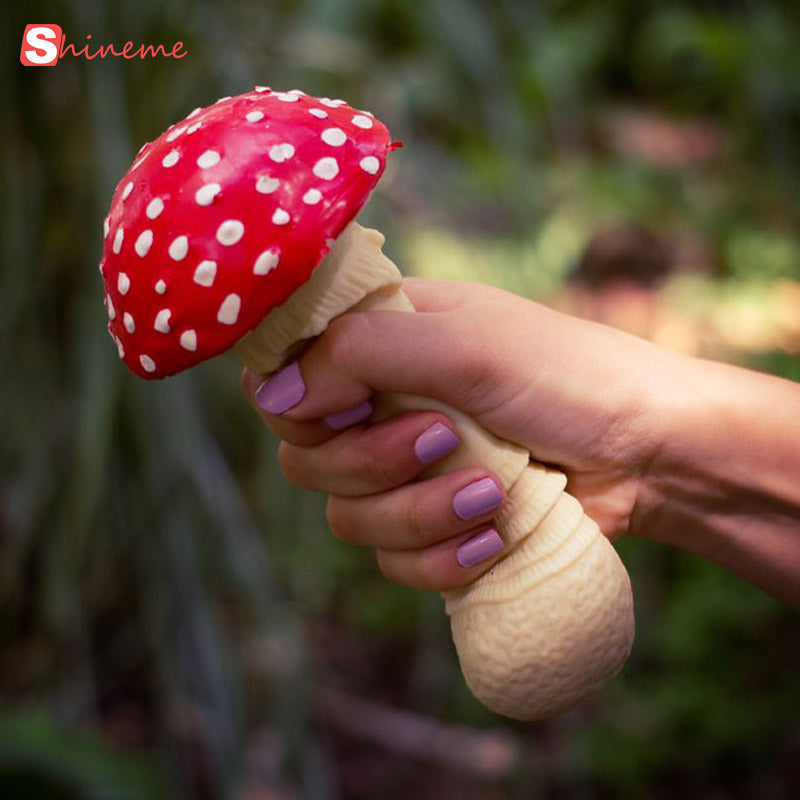1PCS soft mushroom stress relief squeeze toy funny gadgets anti stress