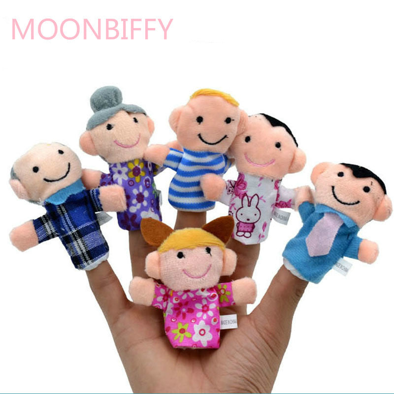1Pcs Family Finger Puppet Cloth Doll Baby Educational Hand Toy Story