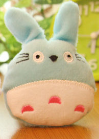 3Colors - Kawaii 5CM TOTORO Stuffed TOY Plush String TOY BAG Key Chain