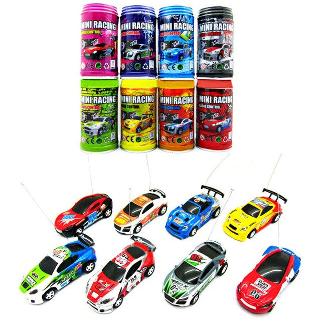 7 Colors Mini Car Coke Can RC Car Radio Remote Control Racing Truck