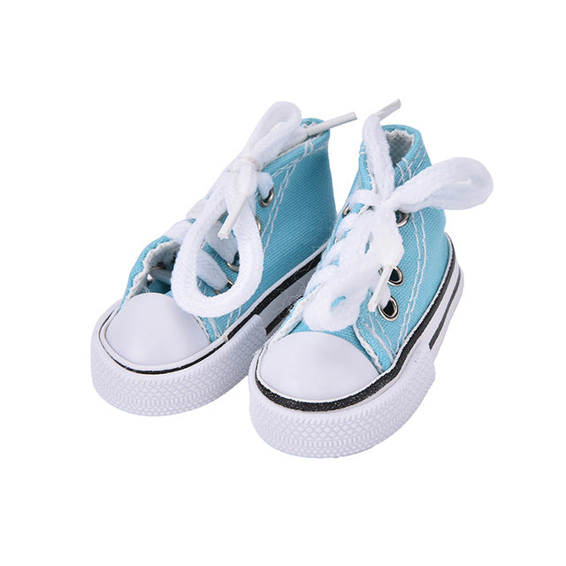 1 Pair Denim Canvas Shoes For BJD Doll Toy Mini Doll Shoes for