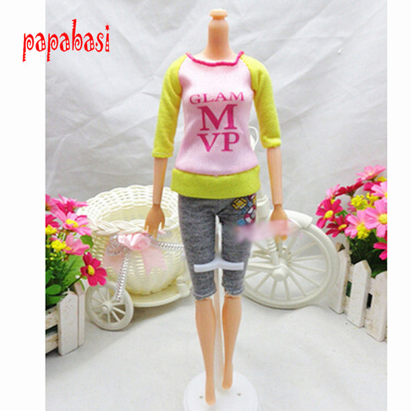 Doll Clothing Sets Fashionable Clothes Casual Dress Suits For Barbie