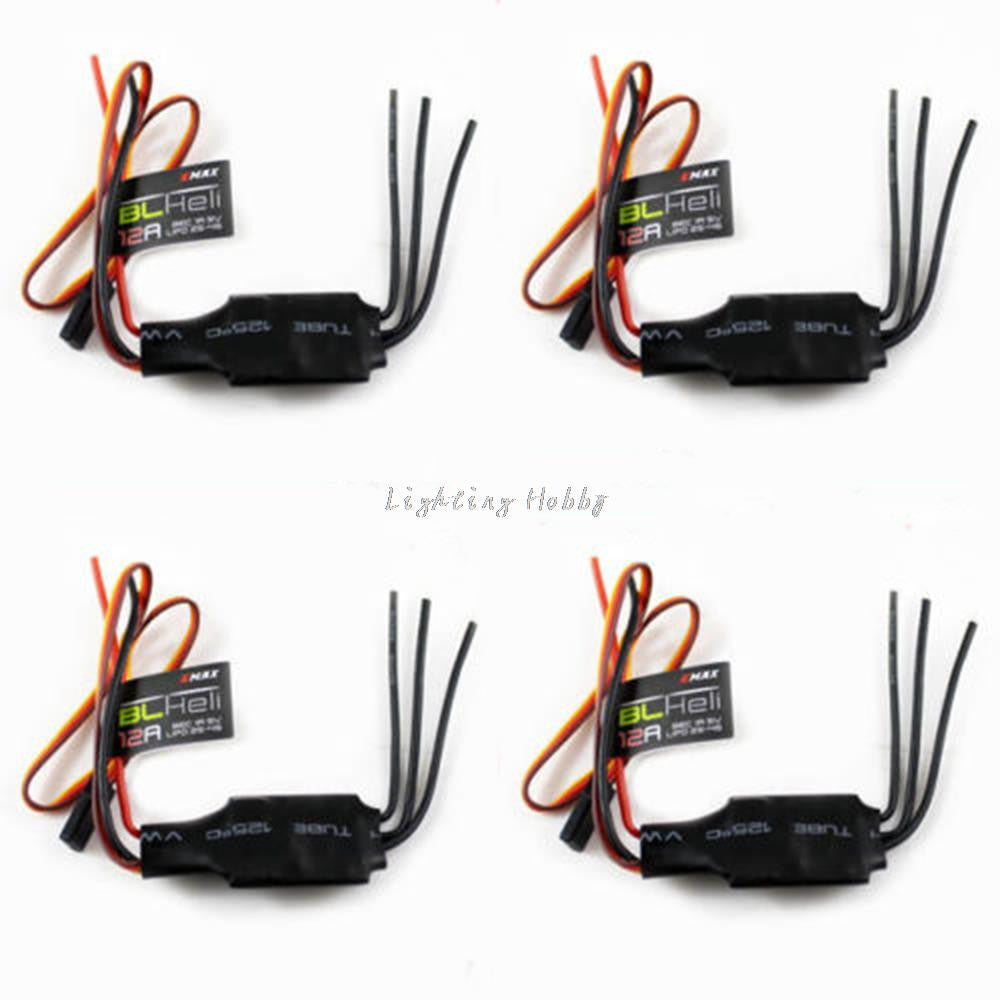 FPV 4x Emax Blheli Firmware 12A Brushless ESC Speed Controller For