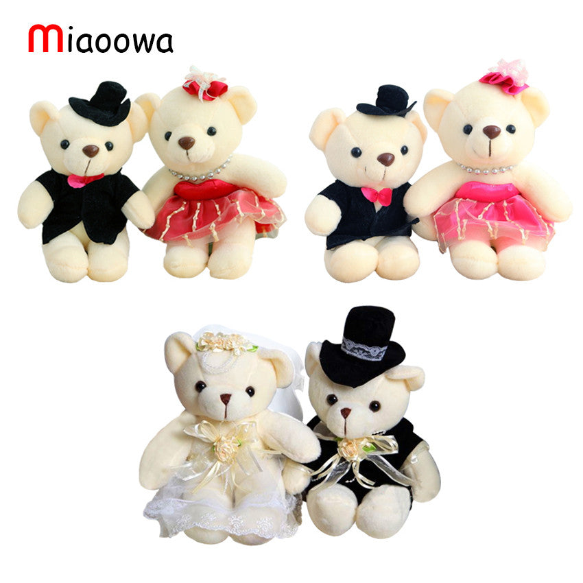 15or18CM couple bear wedding teddy bear plush toys wholesale Christmas