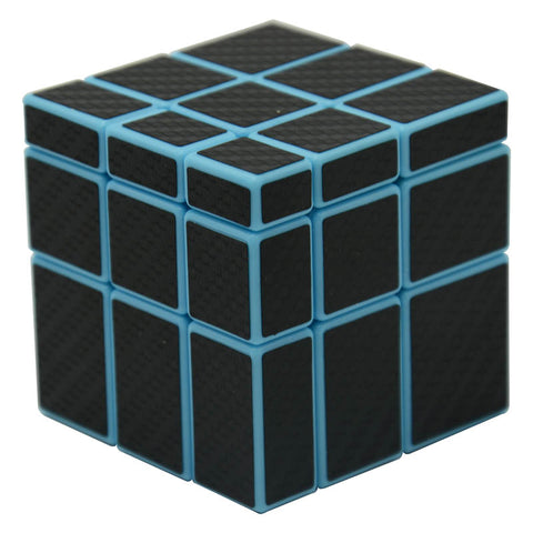 Cube Style Miluo 5.7cm 3x3x3 Mirror Block(Blue Body with Black Carbon Fiber Sticker/Other Sticker)Magic Cube Puzzle