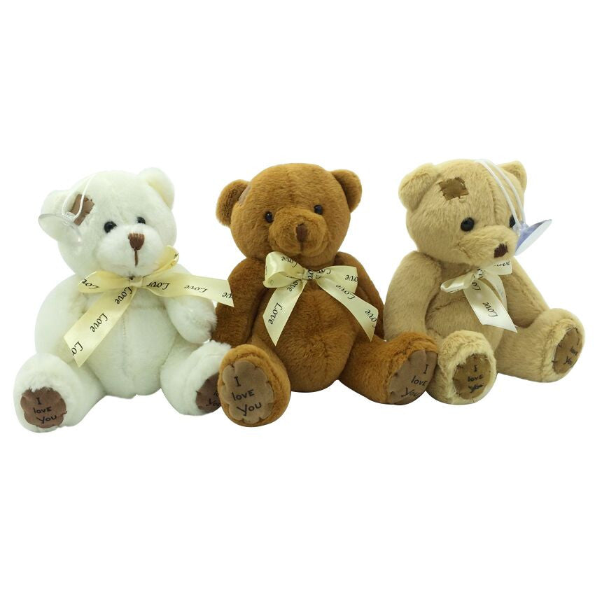1pc 15cm Patch Bear Dolls Teddy Bear Soft Toy Bear Wedding Gifts