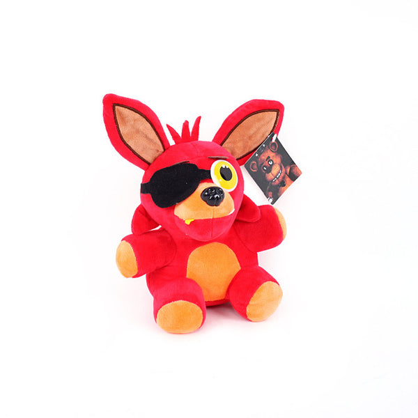 Kawaii Animal Plush Toys Five Nights At Freddy's 4 Juguetes Fnaf World Freddy Bear Chica Bonnie Foxy Kids Stuffed Doll Accessory