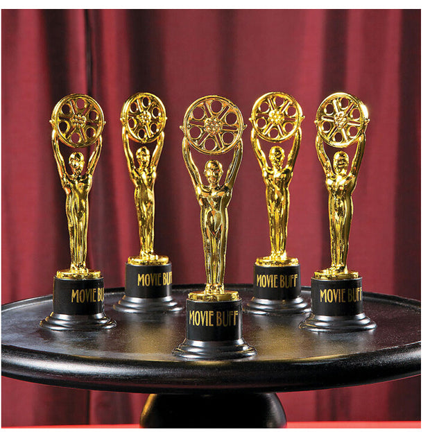 Free Shiping 6pce/lot Golden Trophy Educational Movie PropsReward