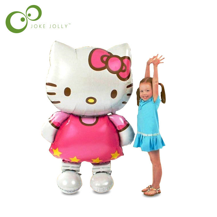 116*65cm Oversized Hello Kitty Cat foil balloons cartoon birthday