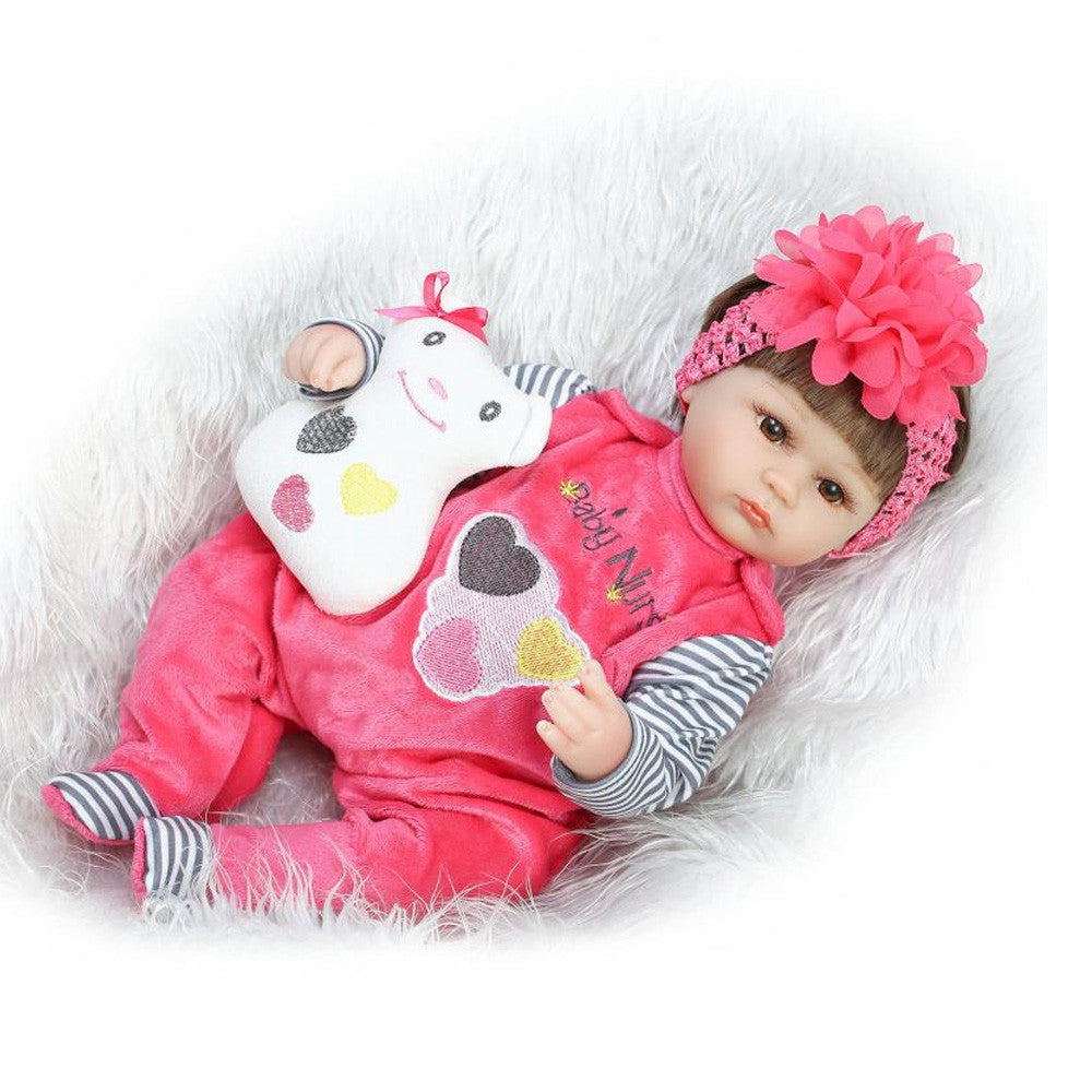 16 Inch 40cm Silicone Reborn Baby Doll kids Playmate Gift For Girls