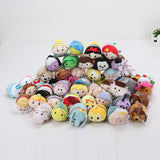 7-9cm Tsum Tsum Plush doll Duck toys Cute doll Screen Cleaner Mermaid min toy inside out keychain plush toy