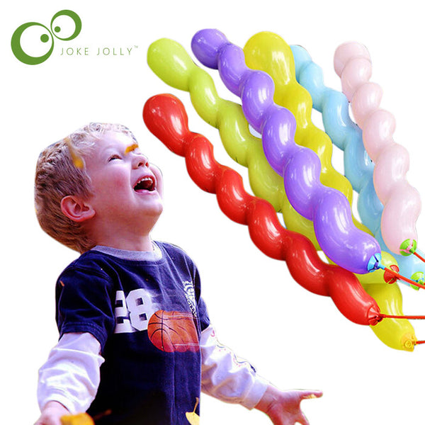 10pcs/lot hot sell Multicolor Twist piral Latex Balloons Wedding Kids Birthday Party Decor Toy GIFT Christmas