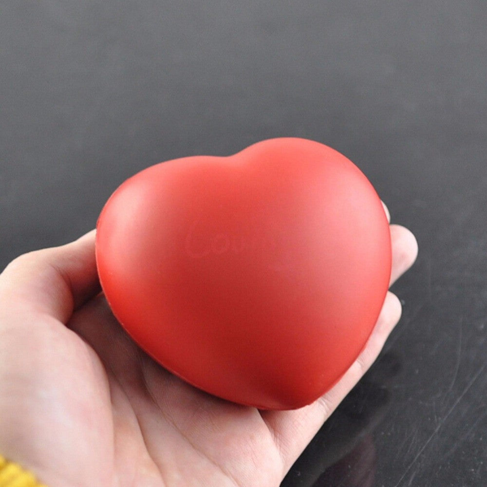1Pc Heart Shaped Stress Relief Squeeze Soft Foam Ball Hand Wrist