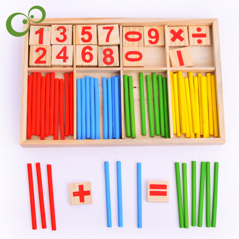 1PC Free Shipping Montessori Wooden Number Math Game Sticks