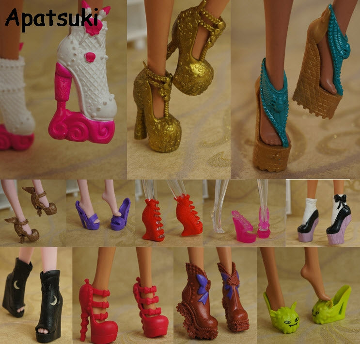 10pairs/lot 2017 New Colorful Accessories Shoes For Monster High