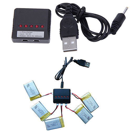 Hot 5 in 1 Lipo Battery USB Charger Adapter for Syma X5C-1/X5C Drone