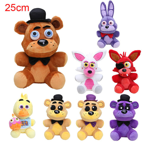 10'' 25cm Five Nights At Freddy's 4 FNAF Freddy Fazbear Bear Plush Toys Doll Five Nights At Freddy figure toys