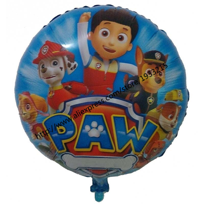 18inch 5pcs  Puppy Patrol dog Foil Balloons anime Dog Helium Balloon