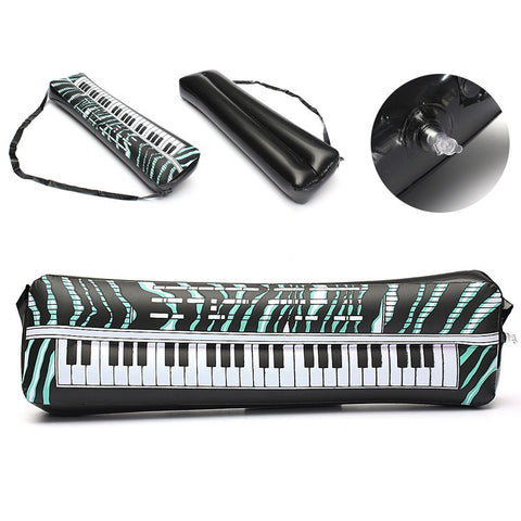 Hot Sale 24''PVC Inflatable Keyboard Piano Musical Instrument Party Music Toy Children Kids Black and White Gift