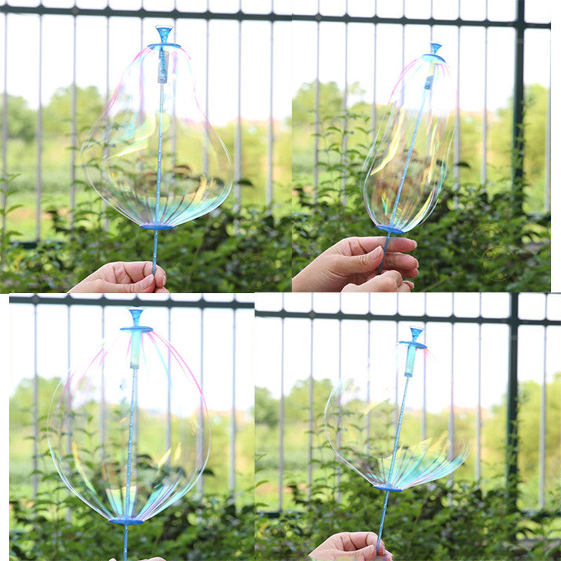 1Pc Funny Plastic Colorful Outdoor Soap Bubble Shook Stick Blowing