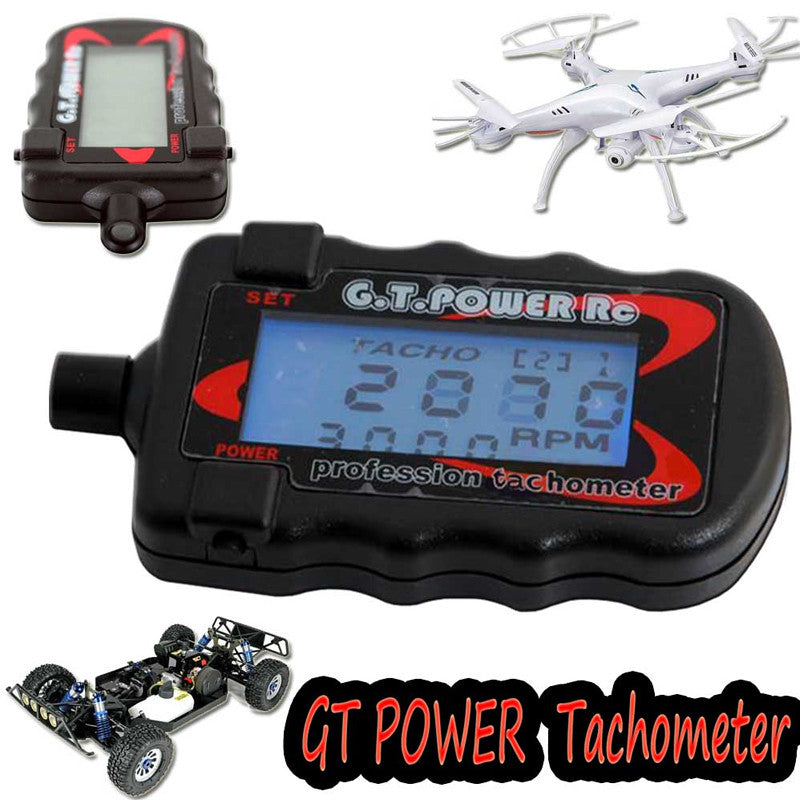1pcs G.T. Power Model Profession RC Motor Digital Optical Tachometer