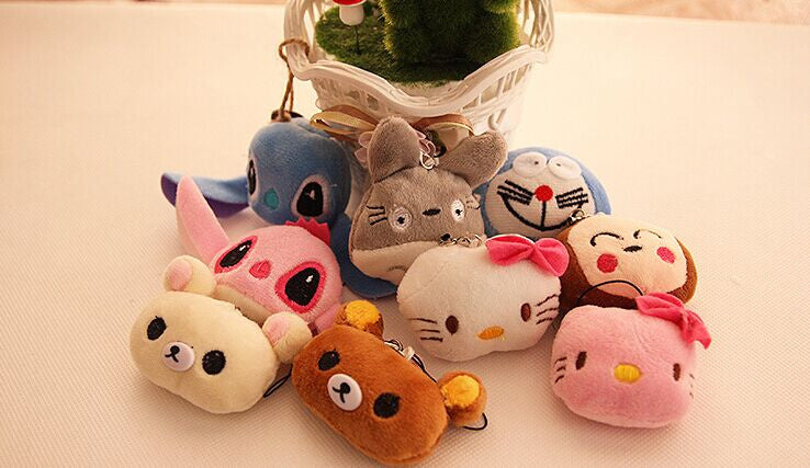 Kawaii Multi- Choice Mini 3cm Totoro , Cat Etc. Plush gift toy ,
