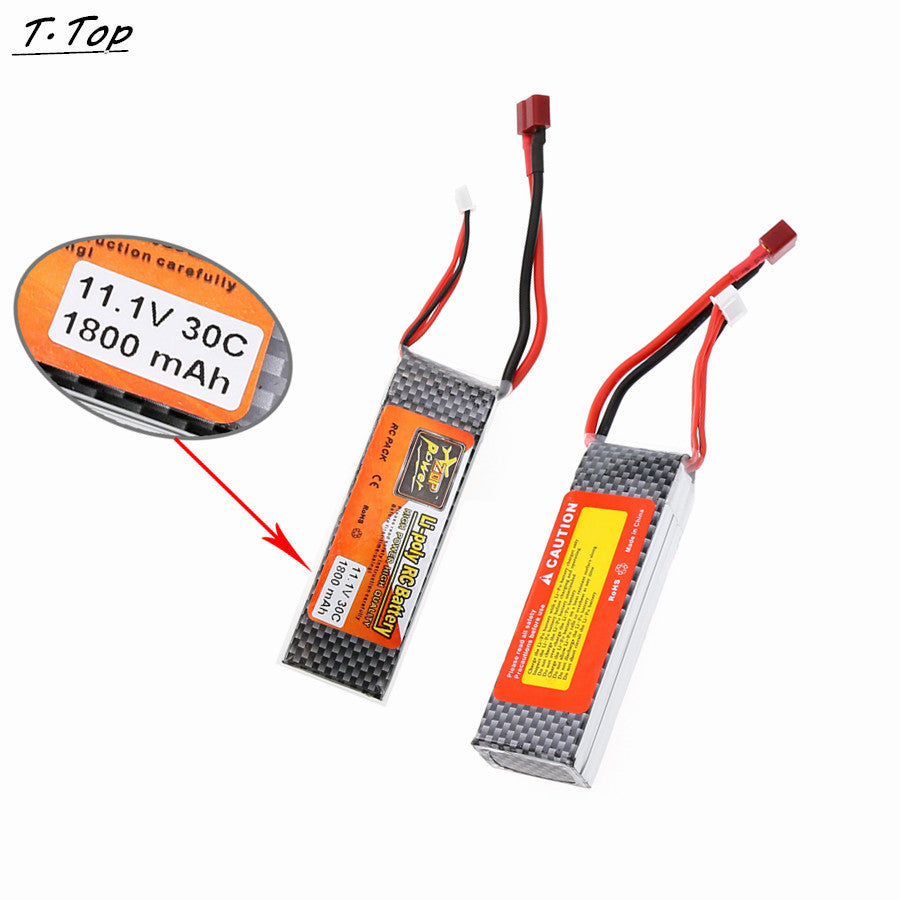 1pcs 1800mAh 30C 11.1V Lipo Battery for RC Airplane Car Boat Deans