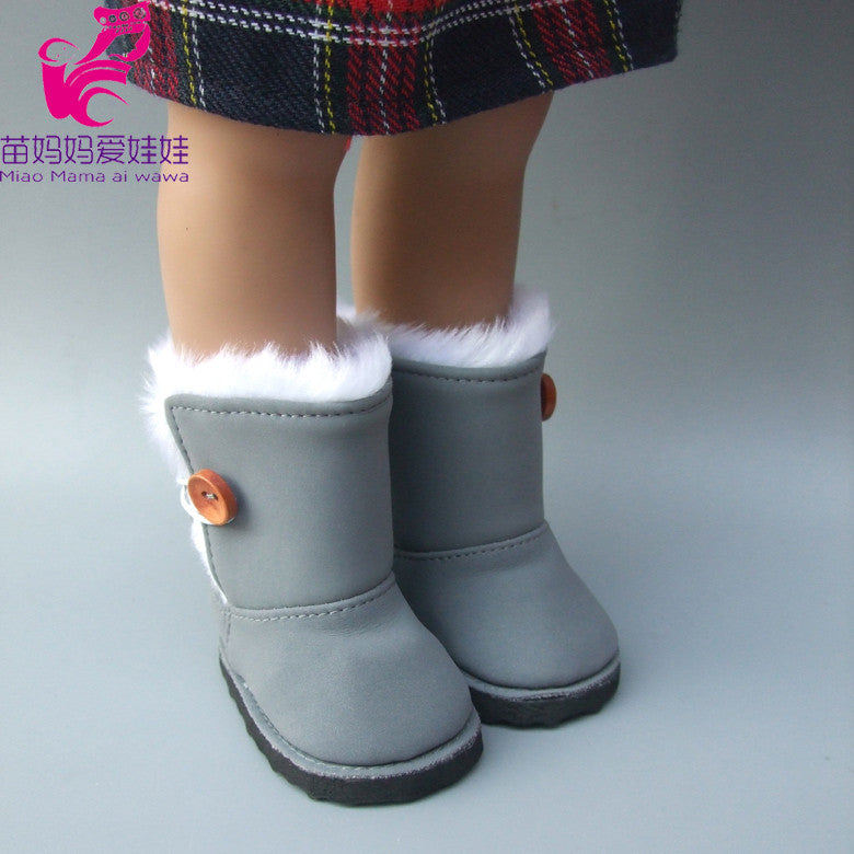 18 inch 45CM American Girls Dolls Fur Snow Boots shoes for Alexander
