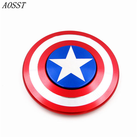 (AOSST) High-quality Captain America Shield Metal Hand Spinner Fidget Toys Spinner Finger Spinner Stress Wheel For ADD And ADHD