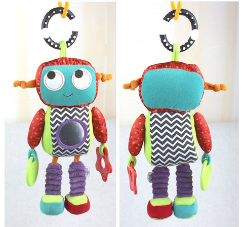 1pcs Baby brand Activity Toys Robot style Baby rattle music comforter toy baby toy rattles children dolls 26cm