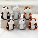 Kawaii Talking Hamster Plush Toys Sound Record Plush Hamster Stuffed Toys for Children Kids Birthday Gift 16cm