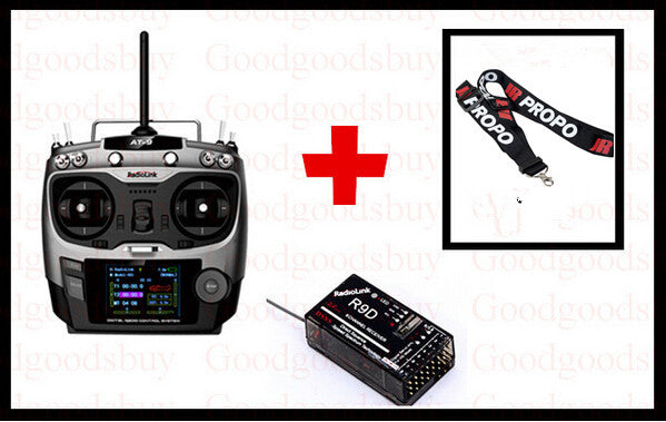 Free shipping 2.4G 9ch system Radiolink AT9 rc radio Transmitter &