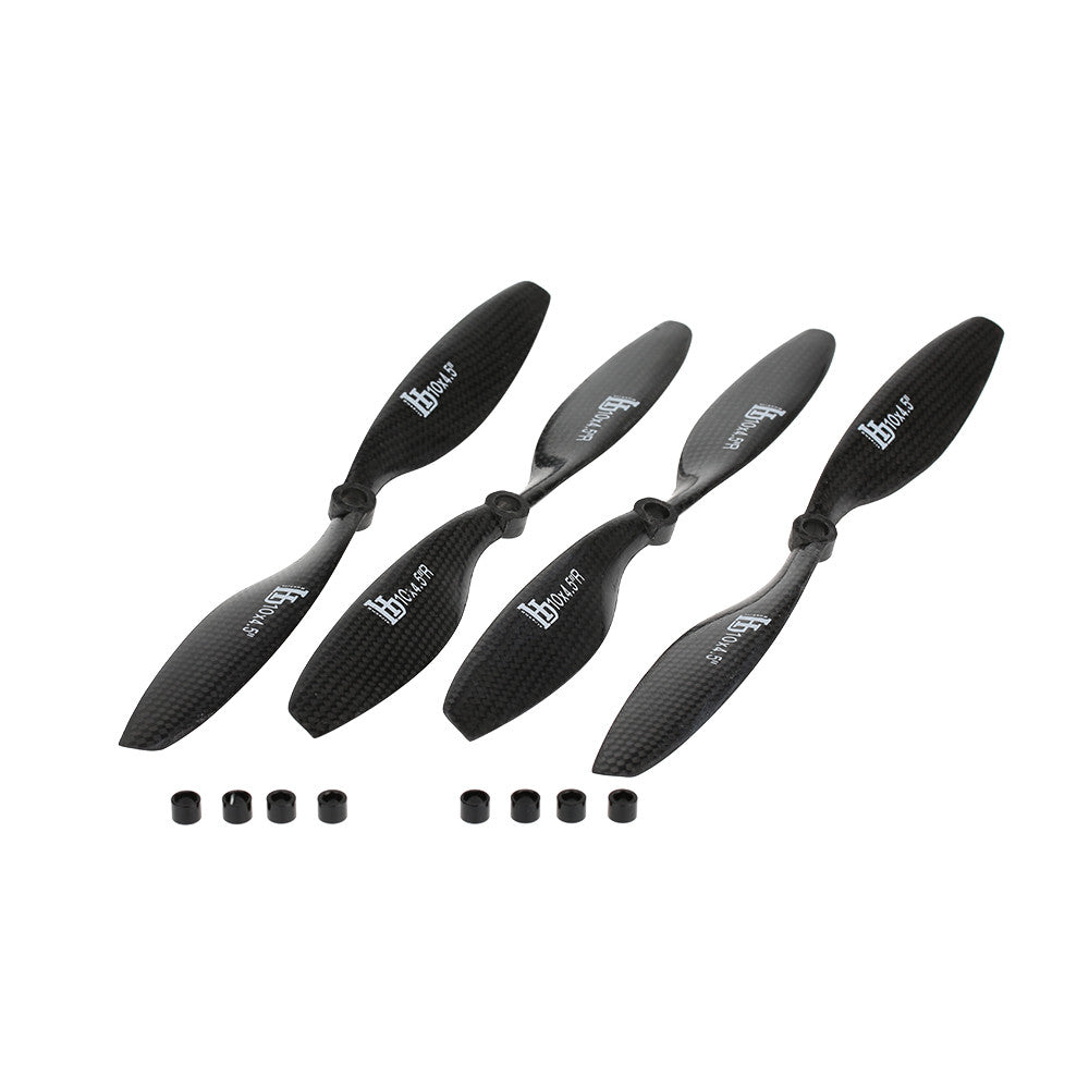 "2 Pairs HJ Carbon Fiber 1045 10 * 4.5"" CW+CCW Propellers Prop for F450"