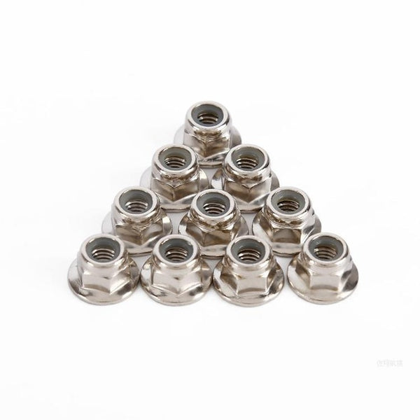 10pcs/lot CW CCW M5 Nylon Insert Hex Lock Nut (Alum) Self Locking Nut with Quick Release For FPV Racing Quadcopter