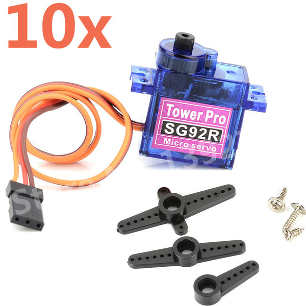 10pcs/lot TowerPro SG92R Micro 9g Servo Nylon Carbon fiber Gears Replace SG90 For RC Model Aeromodelling Helicopter Parts
