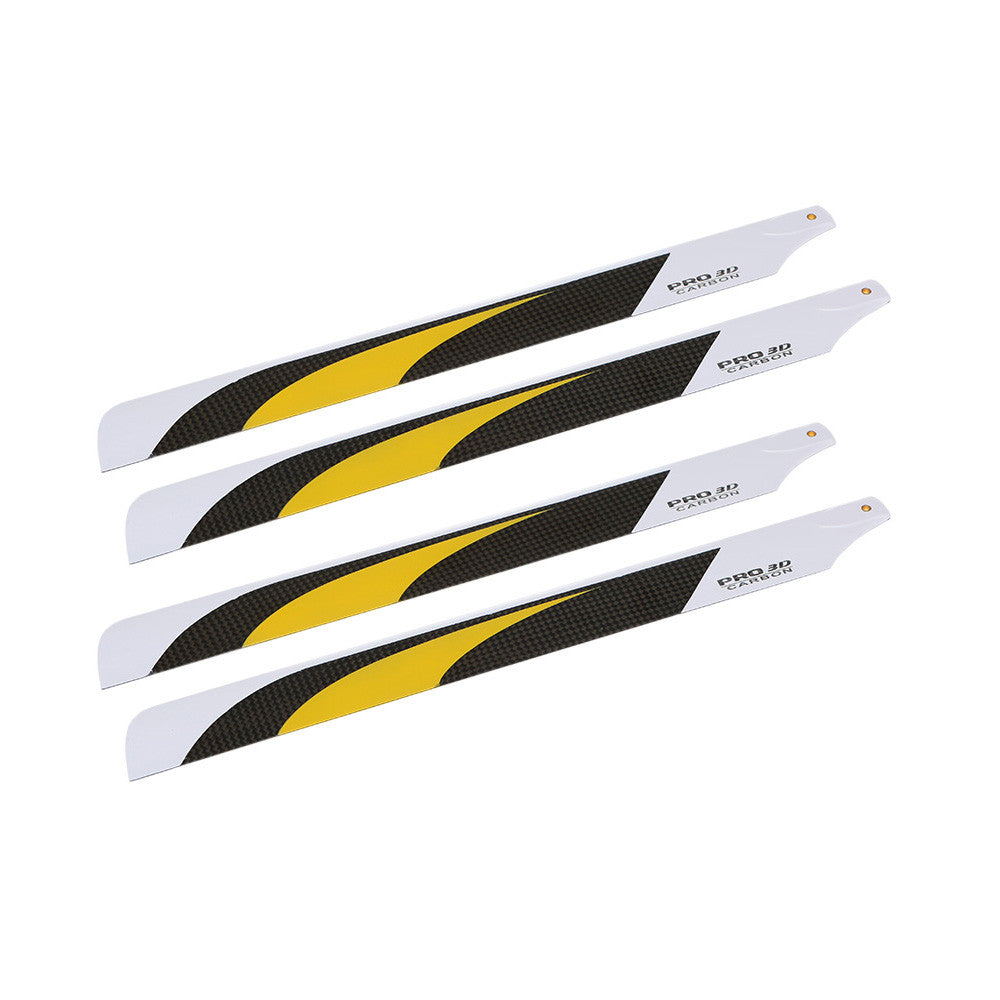 2 * Pairs Carbon Fiber 325mm Main Blades for Align Trex Electric 450