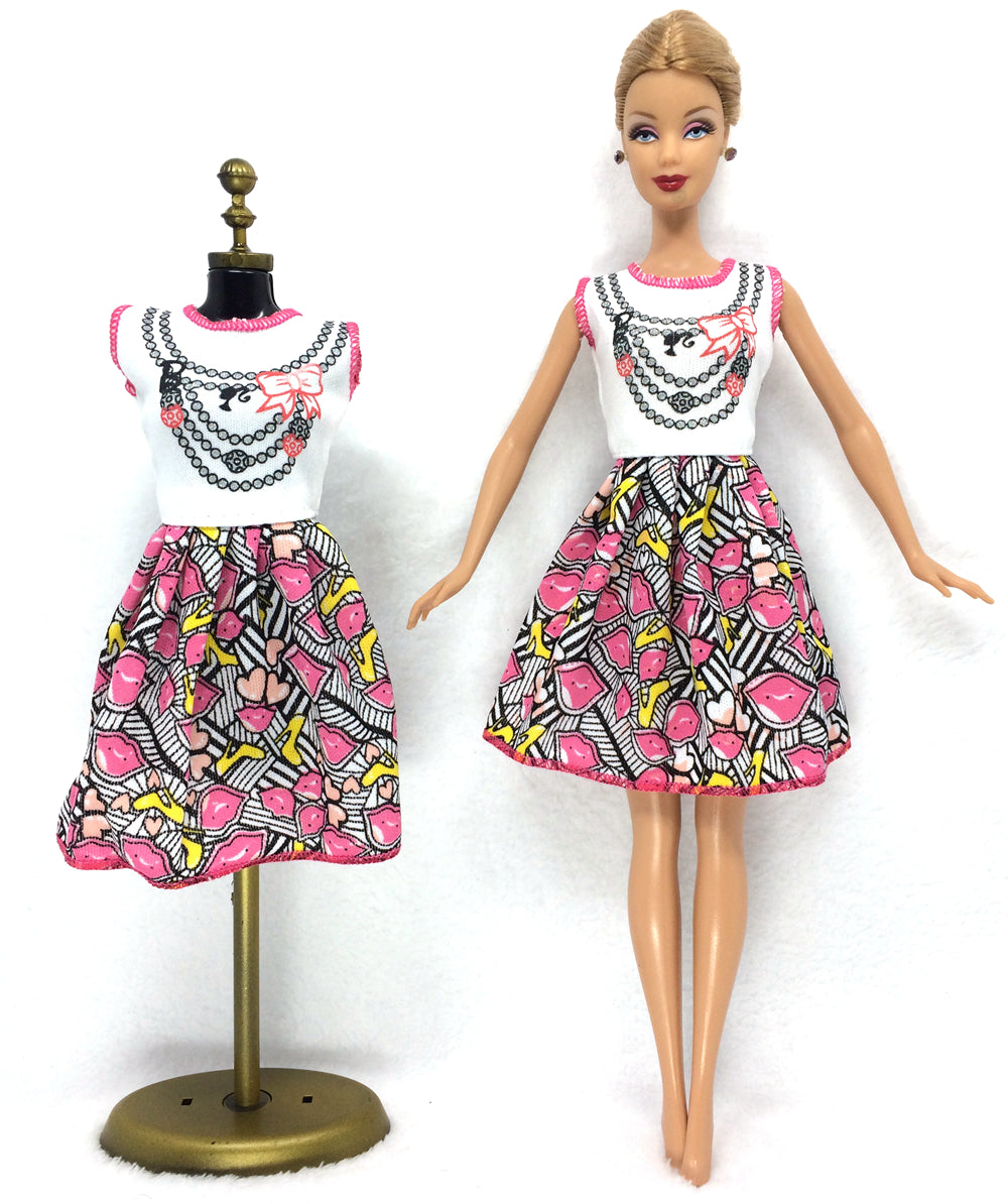 NK 2017 Newest Doll Dress Beautiful Handmade Party ClothesTop