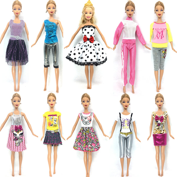 NK 10 Set 2017 Newest Princess Doll Outfit Beautiful Party Clothes Top Fashion Dress For Barbie Doll Best Girls' Gift Baby Toys