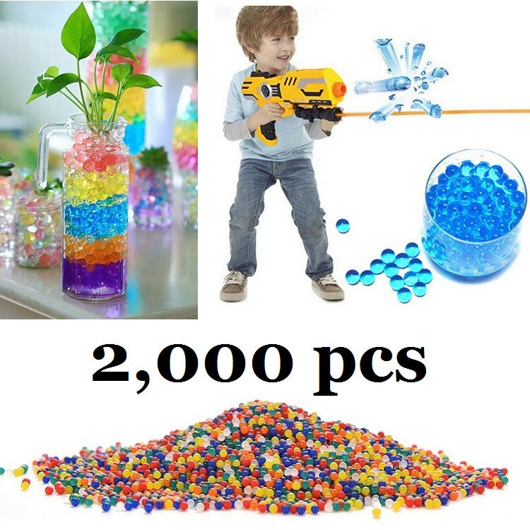 2000pcs multicolor Color Bibulous Crystal Paintball Bullet Water