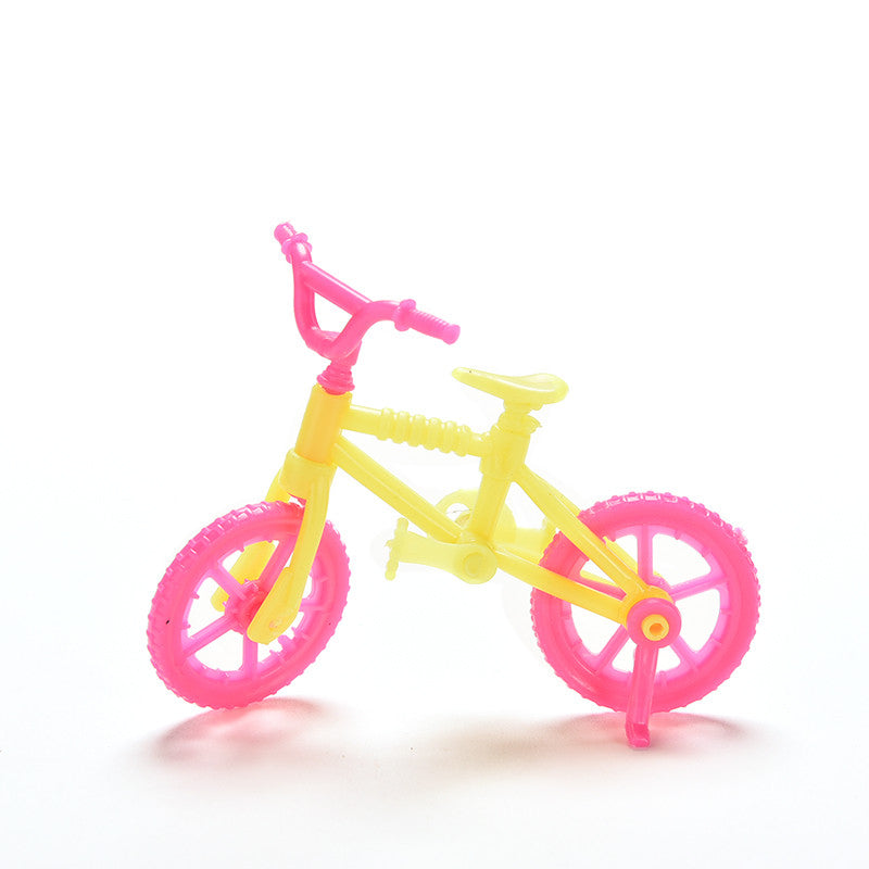 2 Pcs New Bicycles Bikes Fits For 10cm Dolls Mini Toy for Barbie