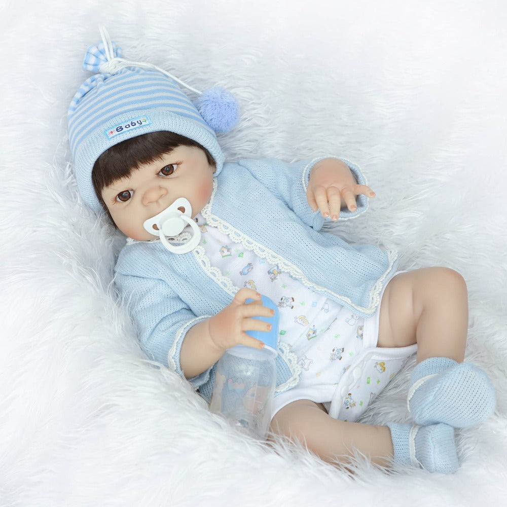 "22"" full body silicone vinyl boy girl dolls reborn  fake reborn babies"