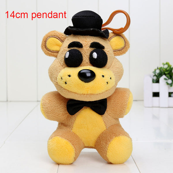 25cm / 14cm FNAF Plush toys Five Nights At Freddy's pendant Golden