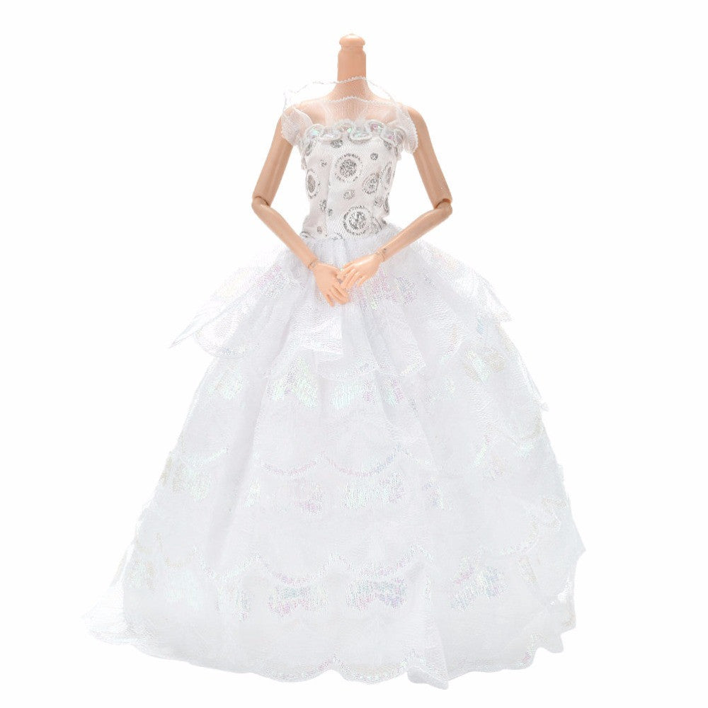 1PCS Hot Selling New Summer Luxury White Cloth Party Wedding Dress For