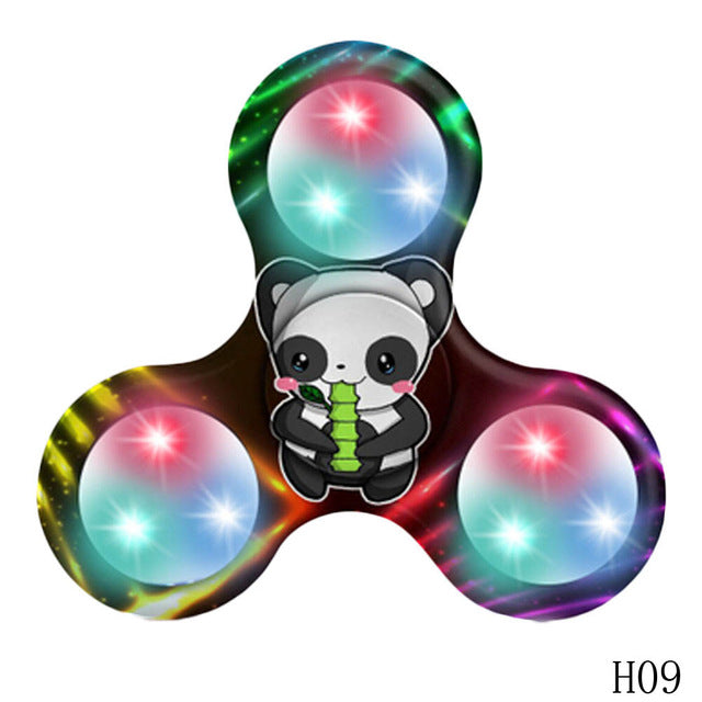 1PC Funny Multicolor ABS LED Expression Spinner Fidget Triangle Single