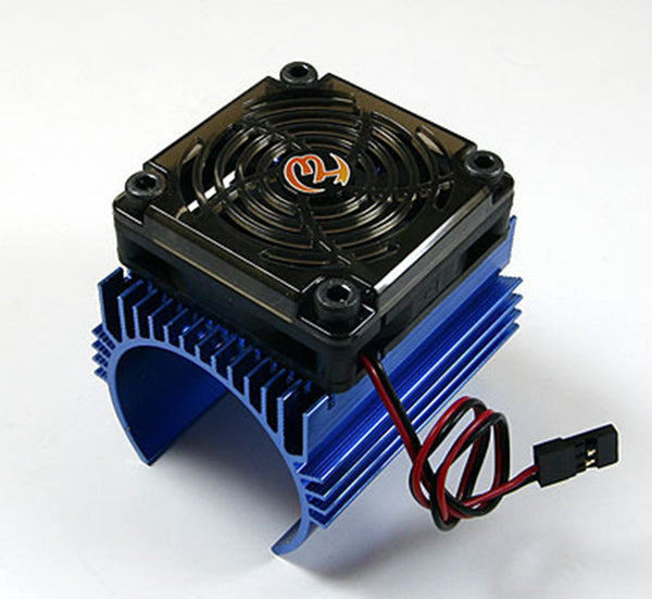 Hobbywing 1: 8 Car Motor Radiator + 5V Cooling Fan for 4465 Motor