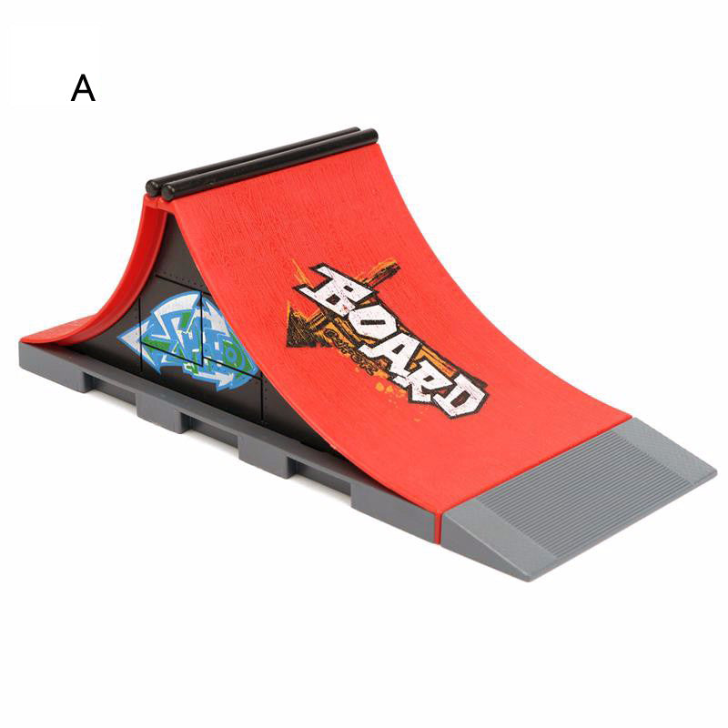 1 piece Hot Sale 6 Styles Skate Park with Fingerboard Ramp Parts for