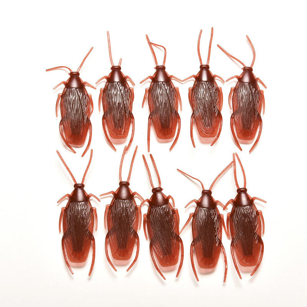 10pcs/lot Model Simulation Fake Rubber Cockroach Cock Roach Bug