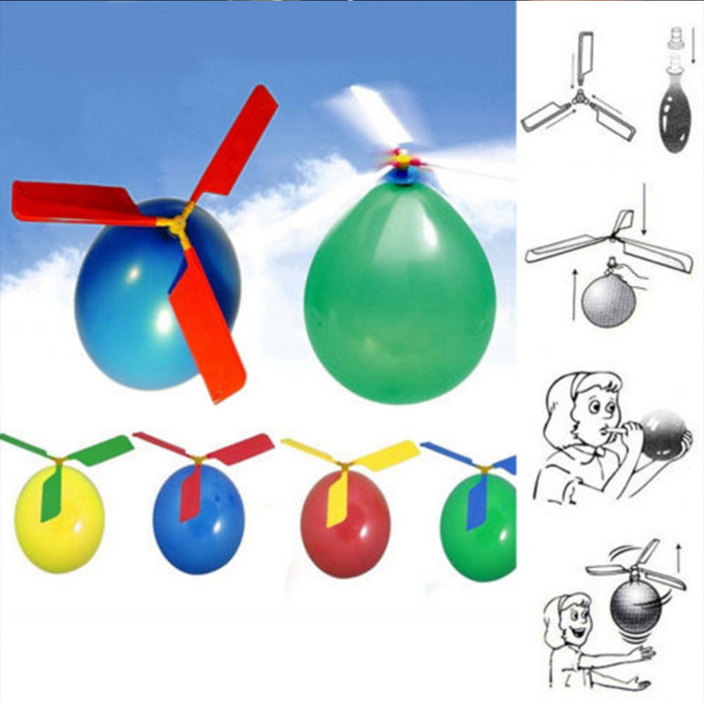1pc Funny Balloon Helicopter Flying Outdoor Playing Educational Kids