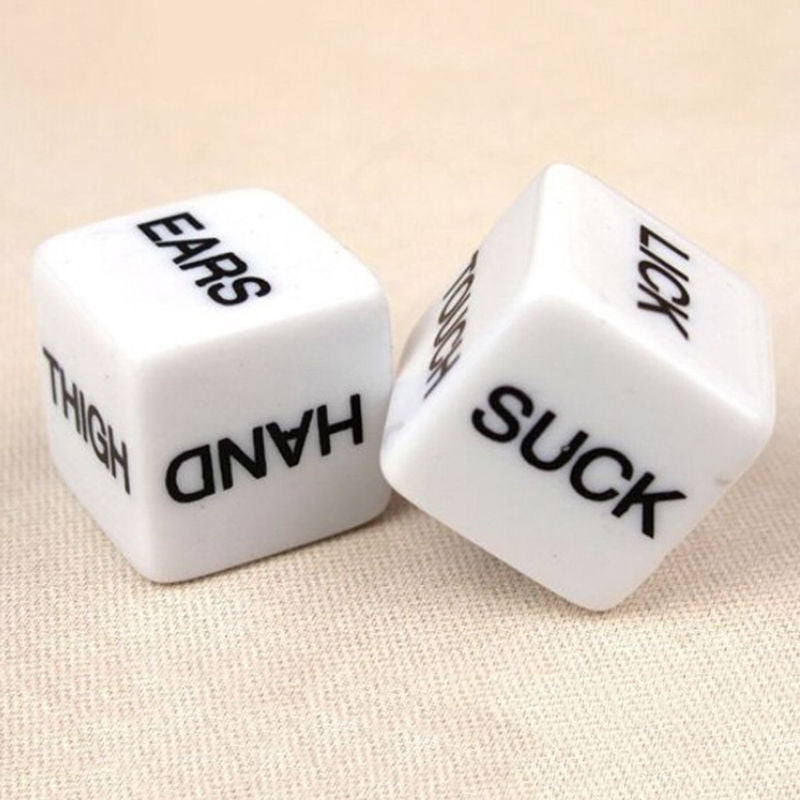 1 Pair=2pcs Erotic Dice Game Toy For Adult Couple Funny Bachelor Party